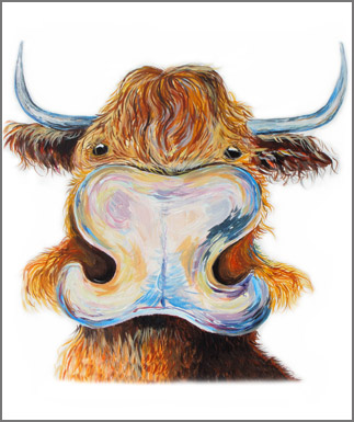 west highland cattle artwork,