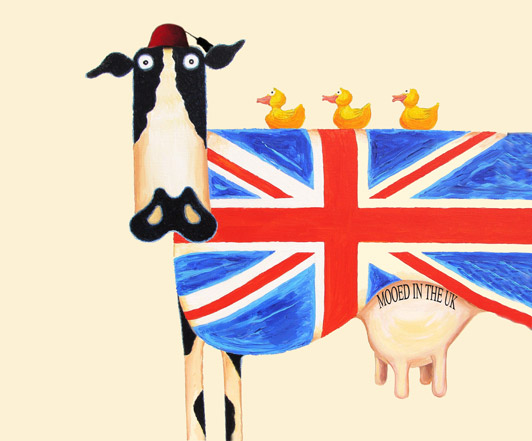 union jack, great british cow, uk beef,